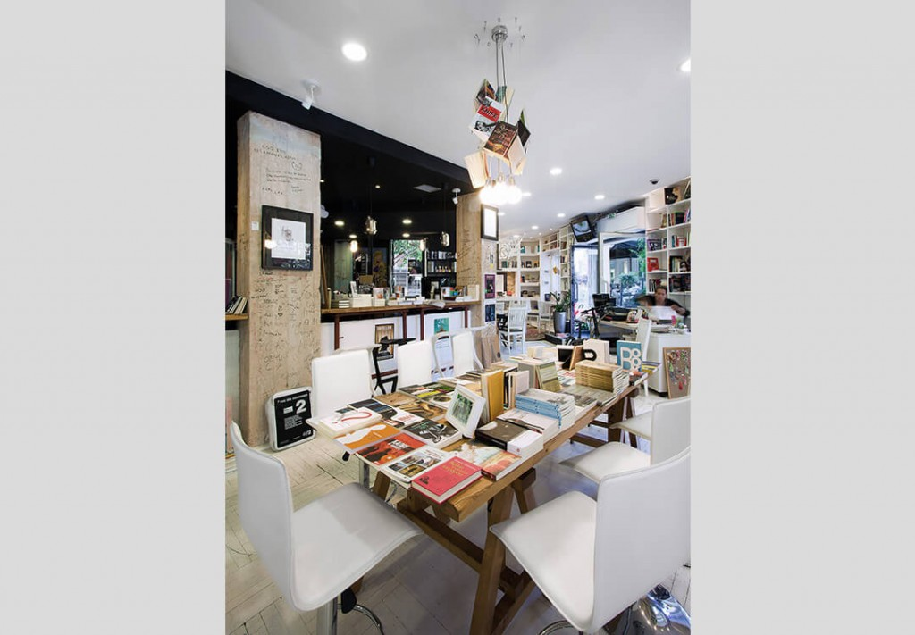 Bookshop Cafe on Skoufa Street in Kolonaki 3