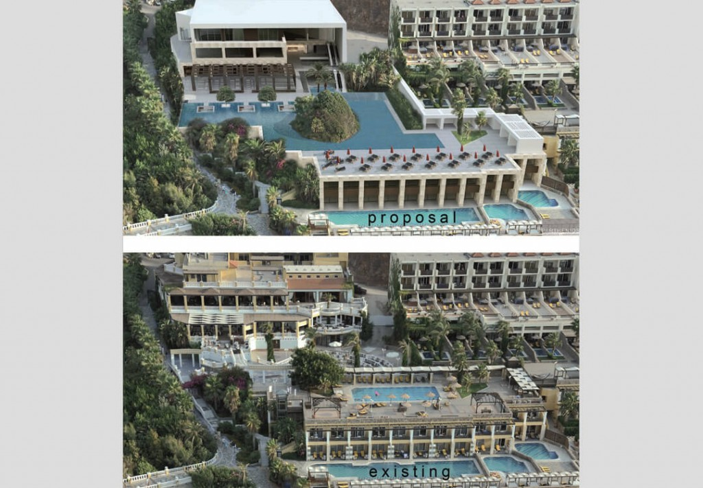 Minos Imperial Hotel in Crete - Main building & outdoors Redesign 3