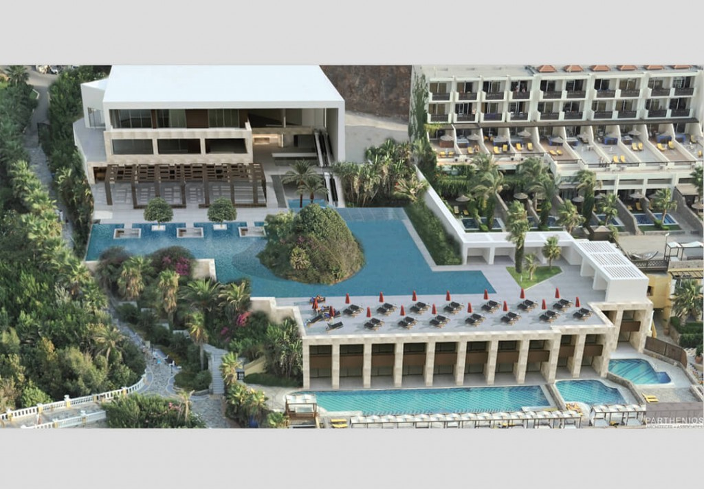 Minos Imperial Hotel in Crete - Main building & outdoors Redesign 4