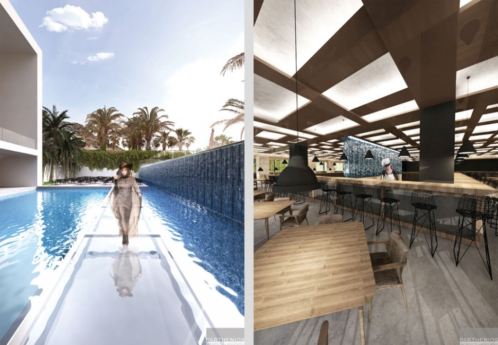 Minos Imperial Hotel in Crete - Main building & outdoors Redesign 7